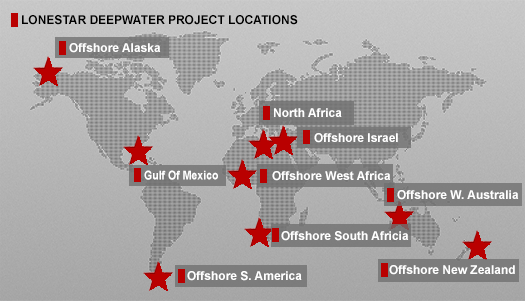 Lonestar Deepwater Project Locations